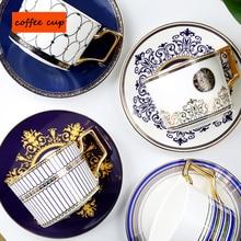 Из европейской керамики кофейная чашка английский послеобеденный чай набор домашний цветок костяного фарфора для свадебных подарков посуда для напитков