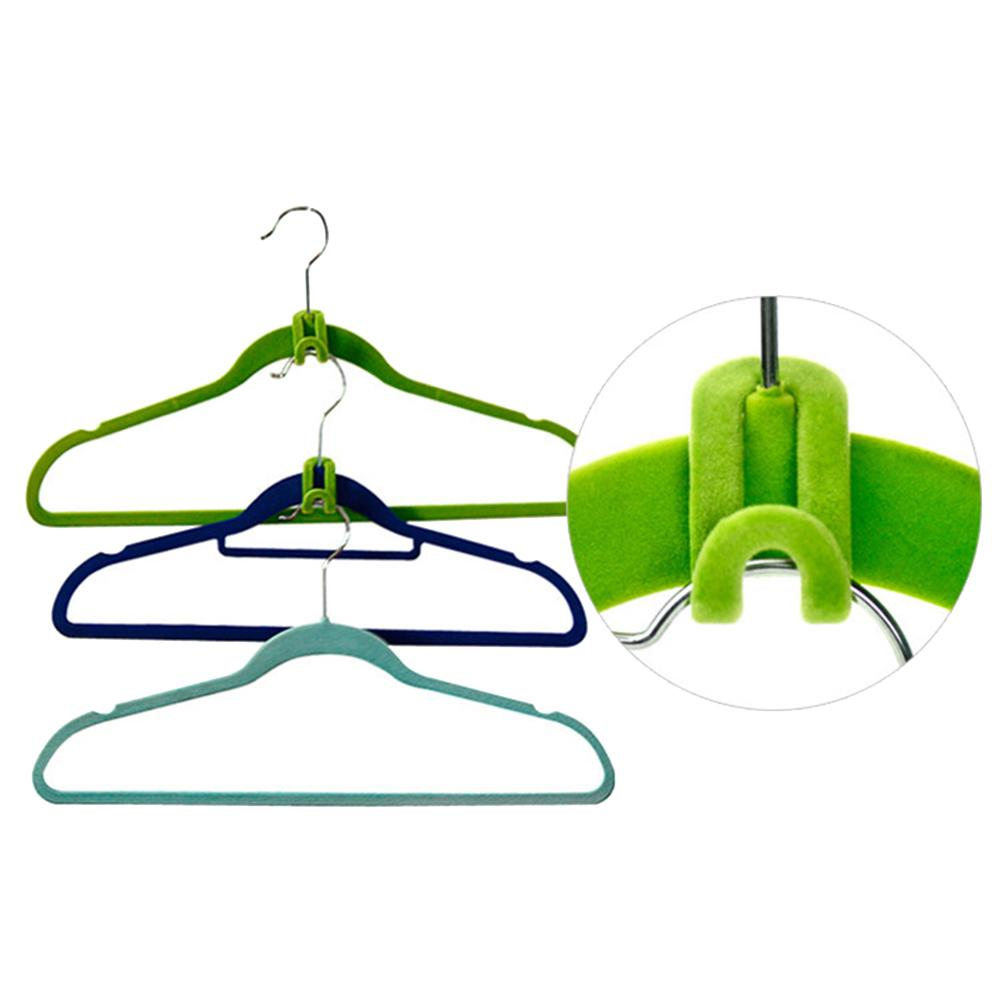 10Pcs Home Travel Mini Flocking Clothes Hanger Hook Clip Closet Organizer Holder