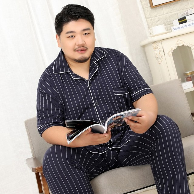 100% Cotton Pajamas For Men Plus Size Available 4