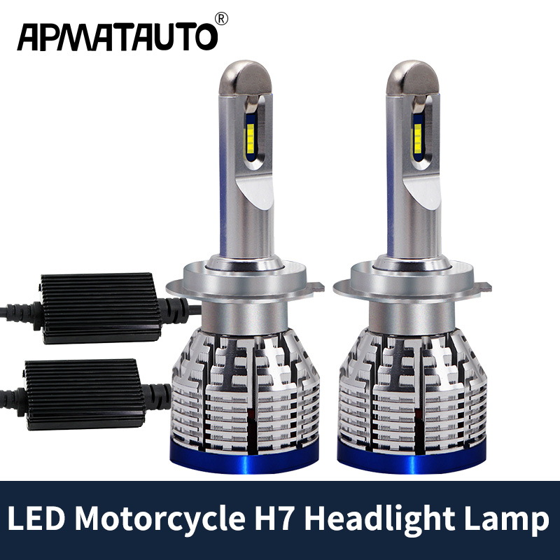 Motorcycle H7 <font><b>Led</b></font> Bulbs <font><b>Headlight</b></font> Lamp For Kawasaki Ninja ZX6R ZX6RR 250R 650R KLR650 Z750 Z750S Z1000 <font><b>Yamaha</b></font> YZF <font><b>R1</b></font> R6 YZF-R6 image