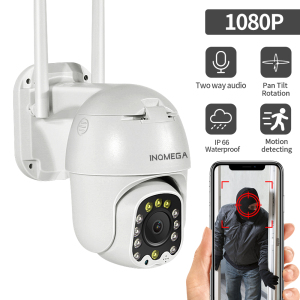INQMEGA Wifi Camera Outdoor 4X Digital Zoom 1080P PTZ IP Camera AI Human Detect Wireless Camera 2MP Surveillance Security CCT