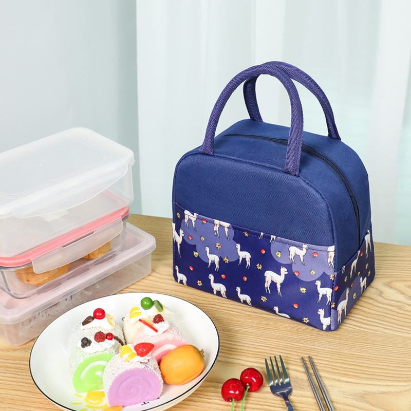 2020 New Cute Bird Portable Zipper Waterproof Lunch Bag Women Student Lunch Box Thermo Bag Office School Picnic Cooler Bag Bolso