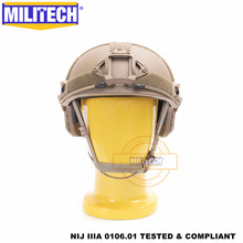 MILITECH Ballistischen helm SCHNELLE CB Deluxe Wurm Zifferblatt NIJ level IIIA 3A High Cut ISO Zertifiziert Twaron Kugelsichere Helm DEVGRU