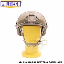 MILITECH 탄도 헬멧 FAST CB 디럭스 웜 다이얼 NIJ 레벨 IIIA 3A 하이 컷 ISO 인증 Twaron 방탄 헬멧 DEVGRU