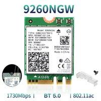 Tarjeta Wifi inalámbrica de red M.2, 2030Mbps, 2,4G/5Ghz, para Intel 9260 AC 9260NGW 802.11ac, Bluetooth 5,0, ordenador portátil de escritorio, Windows 10