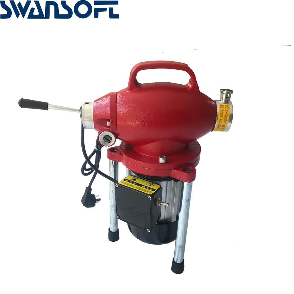 220 В профессиональный очиститель труб машина для очистки дренажных труб очиститель сточных вод Электрический Змеиный канализационный - 2