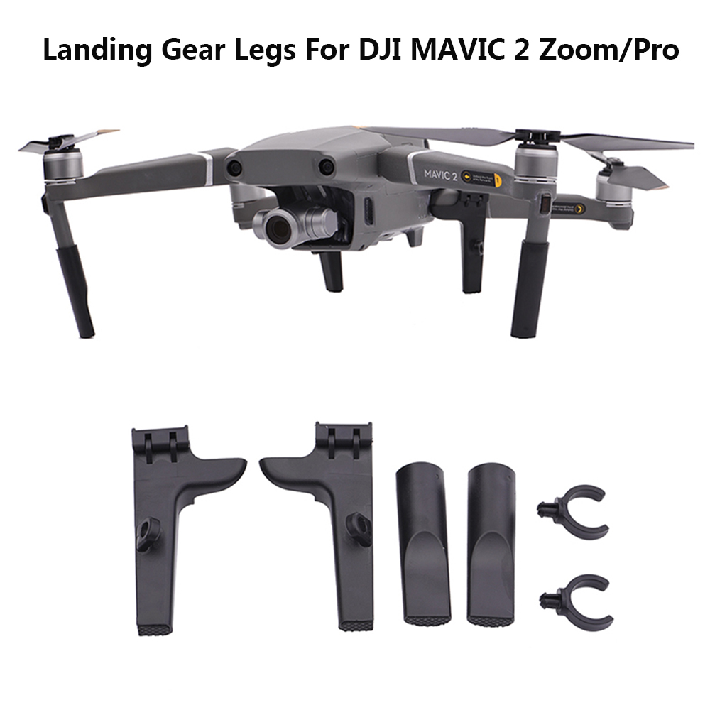 For DJI MAVIC 2 Zoom/Pro Shock-proof Scratch-proof Low-noisy Landing Gear Legs With Slot Able To Install LED Night Flying Lights