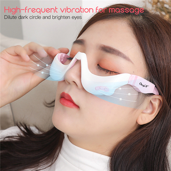 цена на Electric Eye Massager EMS Vibration Eye Care Massage Tool 3D Eyewear Warm Hot Compress Therapy Relief Eye Fatigue Relaxation 45