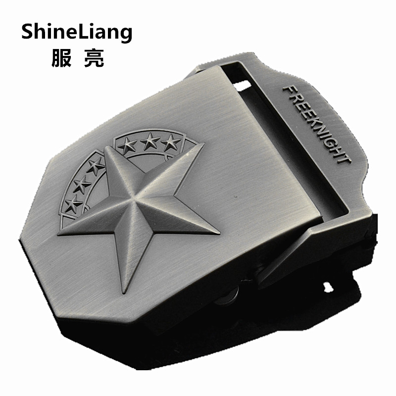 2019 Men's Tactical Belt Buckle Alloy Material FREE KNIGHT Logo Suitable For Military Canvas Width 3.8CM Designer High Quality