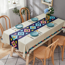 Tablecloth Waterproof Rectangular Birthday-Party Kitchen Pvc Modern Stain Home for Textiles