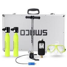 6 в 1 система для дайвинга, мини баллон для подводного плавания, кислородный резервуар для воздуха, насос, алюминиевая коробка для подводного плавания, набор оборудования для дайвинга