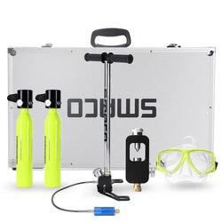 6 в 1 система для дайвинга, мини баллон для подводного плавания, кислородный резервуар для воздуха, насос, алюминиевая коробка для подводного...
