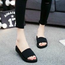 Summer Slippers Women Platform Bath Wedge Beach Flip Flops High Heel for Brand Black EVA Ladies Shoes