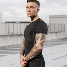 T-Shirts Sportswear Short-Sleeve Tennis-Soccer Gym Fitness Quick-Dry Casual Tight Tops