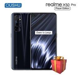 Realme X50 Pro Player Edition 5G Snapdragon 865G procesor telefon komórkowy UFS3.1 65W Super VOOC 180 hz częstotliwość próbkowania 6.44 'telefon komórkowy