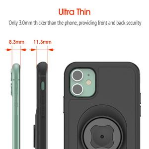 Image 2 - แนวตั้ง Universal หัวเข็มขัดล็อคโทรศัพท์มือถือ Bracket กีฬาเข็มขัดเอวผู้ถือคลิปสำหรับ iPhone 11 Pro XS สูงสุด 8 7 6s ด้วย Quick MOUNT