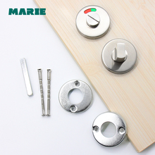 Marie TT004 Stainless Steel WC Toilet Door Lock With Turn Knob Indoor Bedroom Door Handle Lock Bathroom Indicator Lock 2018 limited time limited simple bedroom door lock solid wood toilet lock handle split bright chrome magnetic suction lock