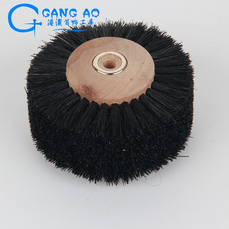 8 Platoon Leader Brush Polishing Brush Hair Brush Polishing Brush Pig Bristle Brush Jade Polishing Bristle Brush Wheel Jade Emer