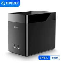 ORICO DS Series 5 Bay 3.5 inch Type C Hard Drive Enclosure USB3.1 Gen1 Magnetic HDD Case Support UASP 50TB HDD Docking Station