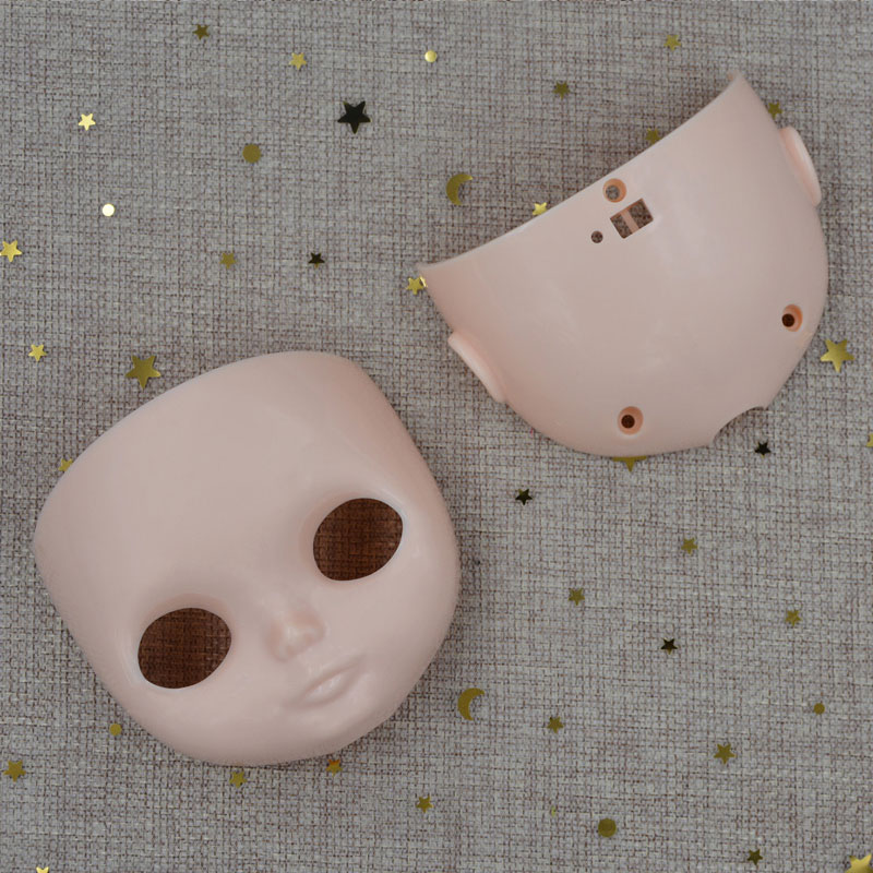 NBL Blyth Doll Accessories  For DIY Custom Doll Blyth, BJD Body Dome And Scalp Face Without Makeup Eyes With Screws T-bar