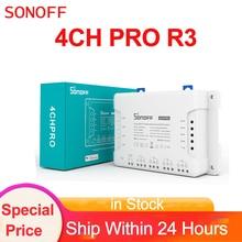 Sonoff 4CH PRO R3 스마트 Wifi RF 스위치 4 Gang 3 작동 모드 인칭 인터록 스마트 홈 Ewelink 스위치 Alexa Google