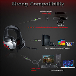 Image 2 - K5 Pro 3,5mm Gaming Kopfhörer 7,1 Virtuelle HiFi Stereo Bass Headset Kopfhörer Mit Geräuschisolation Mikrofon für PUBG PS4 PC Laptop