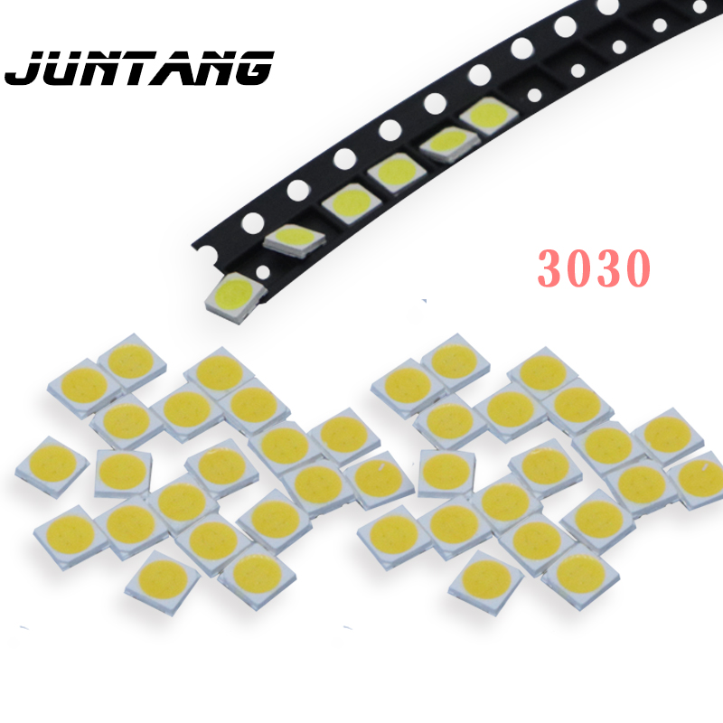 100pcs SMD3030 LED Chip White / Warm White / Cold White / Red / Green / Blue / Yellow 3030 SMD LED 3V / 6V 1W