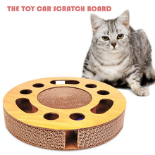 Cat Toys Scratcher Cardboard Vent Emotions Toy Scratching Pad Game Pets Products Safety Material Supplier