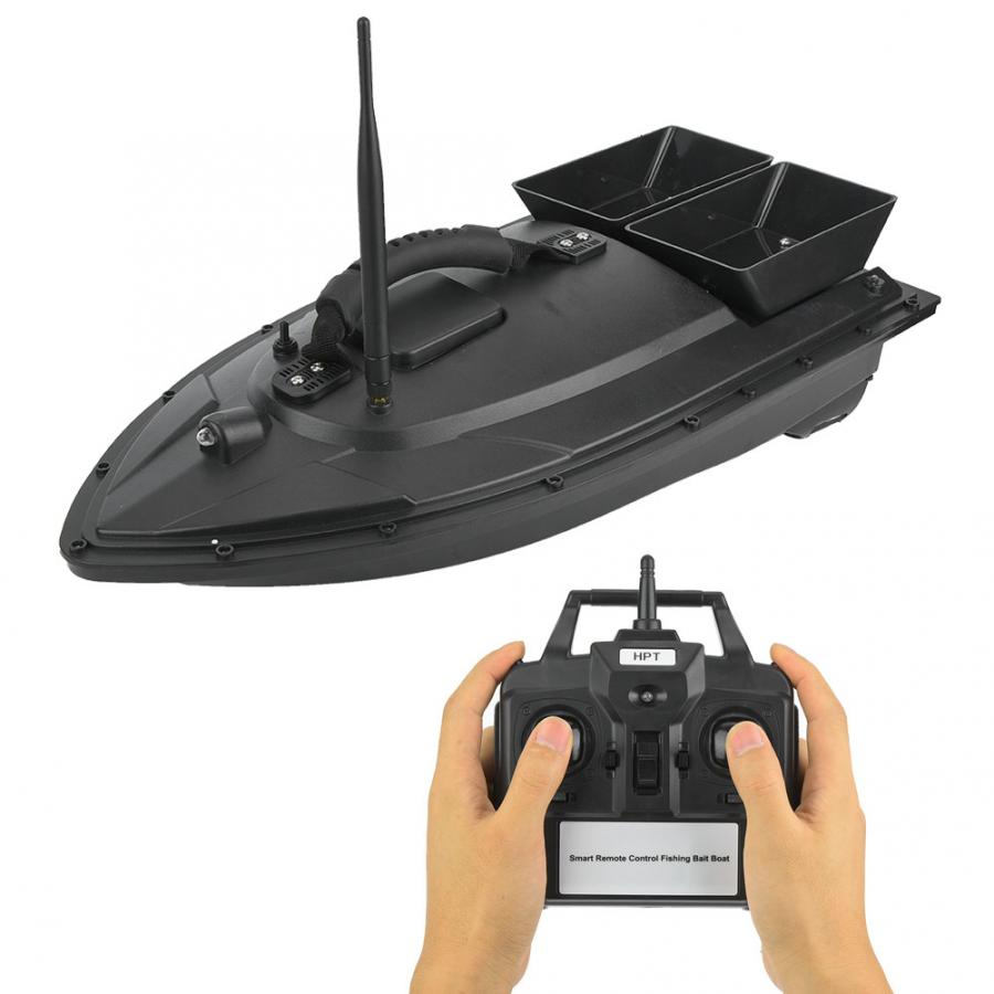 Fishing Bait Boat EU 110-240V Wireless Remote Two Bin Speedboat Waterproof Fish Finder Bait Thrower River Stream Fishing Tool