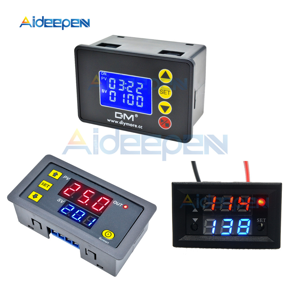 DC 12V <font><b>24V</b></font> AC 110V <font><b>220V</b></font> Digital Cycle Timer Delay <font><b>Relay</b></font> Board Module Microcomputer Time Controller Delay <font><b>Relay</b></font> Module Switch image