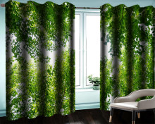 3d Mural Curtain Custom 3d Modern Landscape Curtain Dense Foliage Living Room Bedroom Beautiful And Practical Blackout Curtains(China)