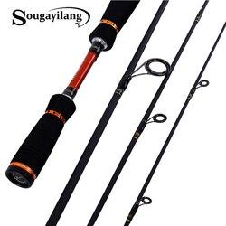 Sougayilang 2.1m 2.4m 2.7m Spinning Fishing Rod 4 Sections Carbon Spinning Rod Bass Medium Hard  Lure Rod Olta