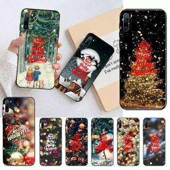 Merry Christmas tree glitter Bling lights Phone Case For Huawei honor Mate P 9 10 20 30 40 Pro 10i 7 8 a x Lite nova 5t image