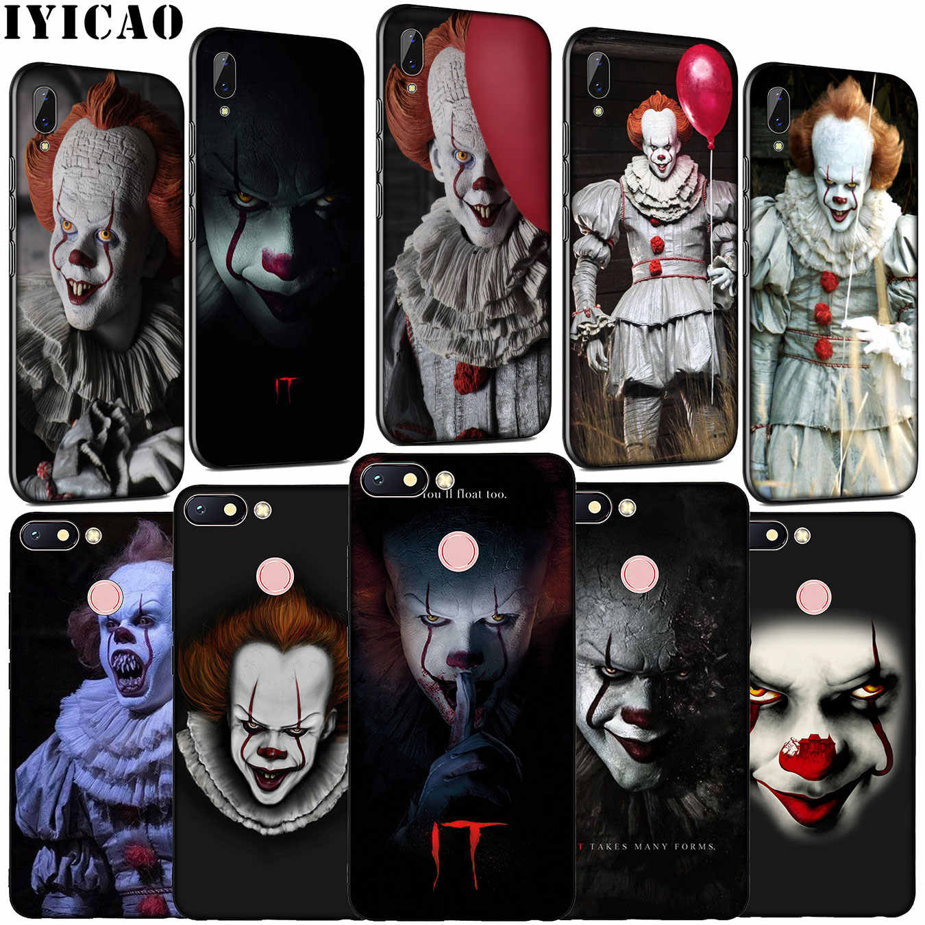 Iyicao De Film Het Pennywise Zachte Siliconen Telefoon Case Voor Xiaomi Redmi Note 8 8T 8A 7 7A 6 6A 5 5A K30 K20 Pro Gaan S2 Cover