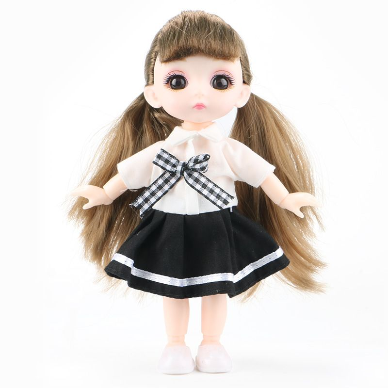 6inch Princess Girl Doll bjd Boneca Dolls normal/joint body Ball Jointed Reborn Glasses Dolls Toys Clothes Shoes Gift For Girls 12