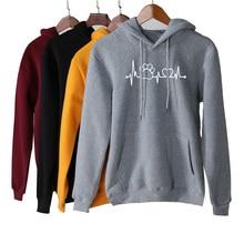 2019 Women Autumn Hoddies Casual Long Sleeve Sweatshirt With Pocket Printed Hooded Warm Female Streetwears