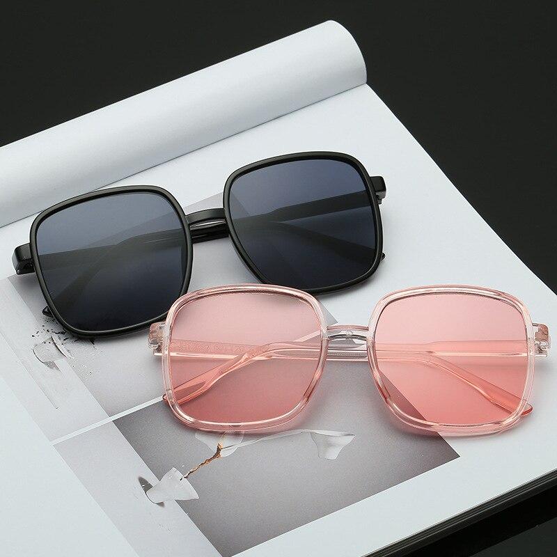 New Square Large Frame Transparent Women Sunglasses Male Lady Small Fresh Trend Sun Glasses Plain Face Flat Eyeglasses