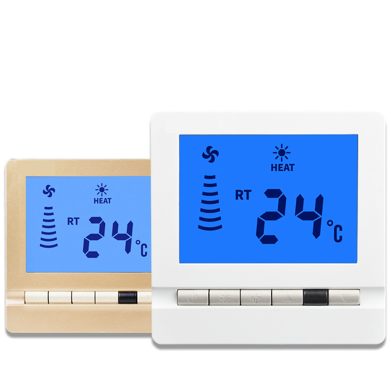 109d LCD Screen Thermostat Fan  Thermoregulator Temperature  Intelligent Control Thermometer Switch Panel