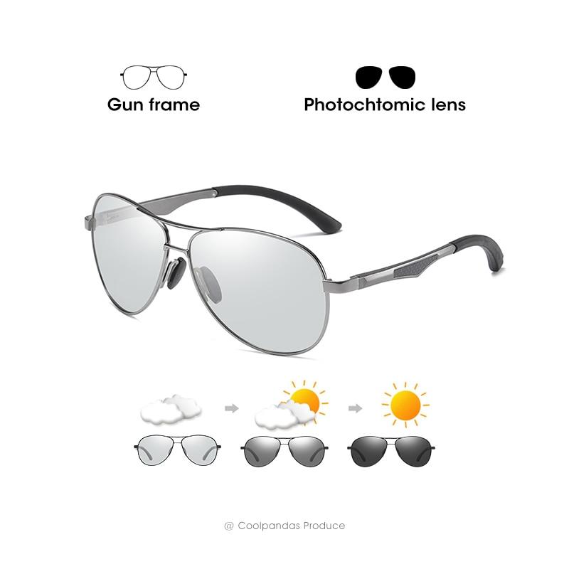 2020 Aviation Driving Photochromic Sunglasses Men Polarized Glasses Women Day Night Vision Driver Eyewear UV400 zonnebril heren 9