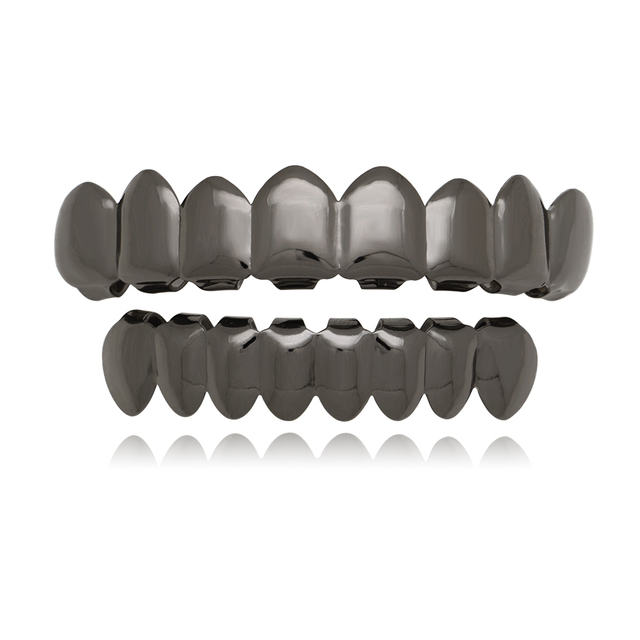 Teeth Grillz Set For Unisex Top Bottom Fashion Jewelry
