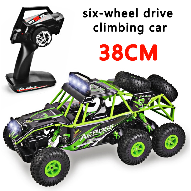 2019 The New Wltoys 18628 rc car 1:18 six-wheel drive climbing car 2.4G remote control big foot off-road vehicle large size 38cm