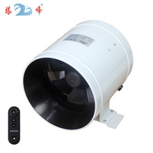 Wireless remote control 6 Inch mixed flow fan exhaust ventilation fan powerful duct greenhouse bathroom fan