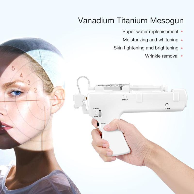 Water Injection Gun Beauty Face Skin Care Instrument Mesotherapy Moisturizing Hydrating Rejuvenation Needle Machine For Home Use