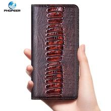 Ostrich Genuine Leather Case For XiaoMi Poco X2 X3 NFC F1 F2 M2 M3 Pro Phone Flip Cover Cases