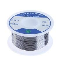 Fio de solda de prata sem chumbo 3% prata 0.8mm fone de ouvido alto-falante diy materiais placa de circuito dispositivos eletrônicos ferramenta de solda
