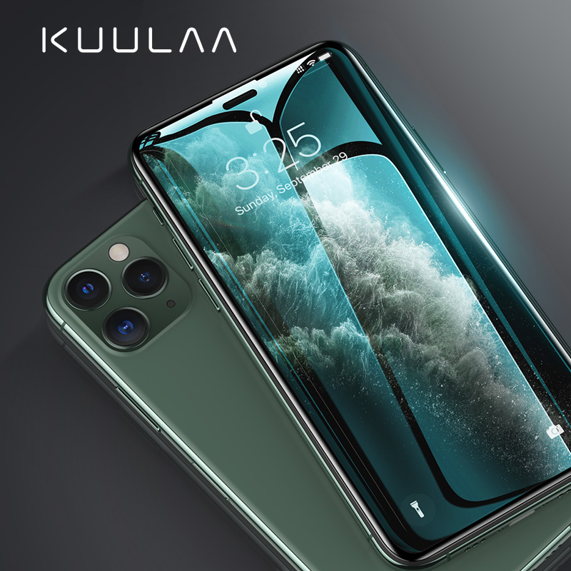 KUULAA 0.3mm Full Coverage Protective Glass For IPhone 11 Pro Max Tempered Glass Screen Protector For IPhone 11 Pro Glass