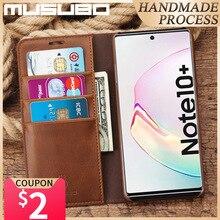 Custodia Musubo per Samsung Galaxy Note 10 + custodia rigida in vera pelle di lusso per Note 10 Plus 5G S10E S10 S9 S8 + Funda Coque Capa