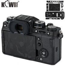 Kivi anti çizik kamera vücut koruyucu cilt Film seti Fujifilm X T4 gölge siyah kamera dekorasyon