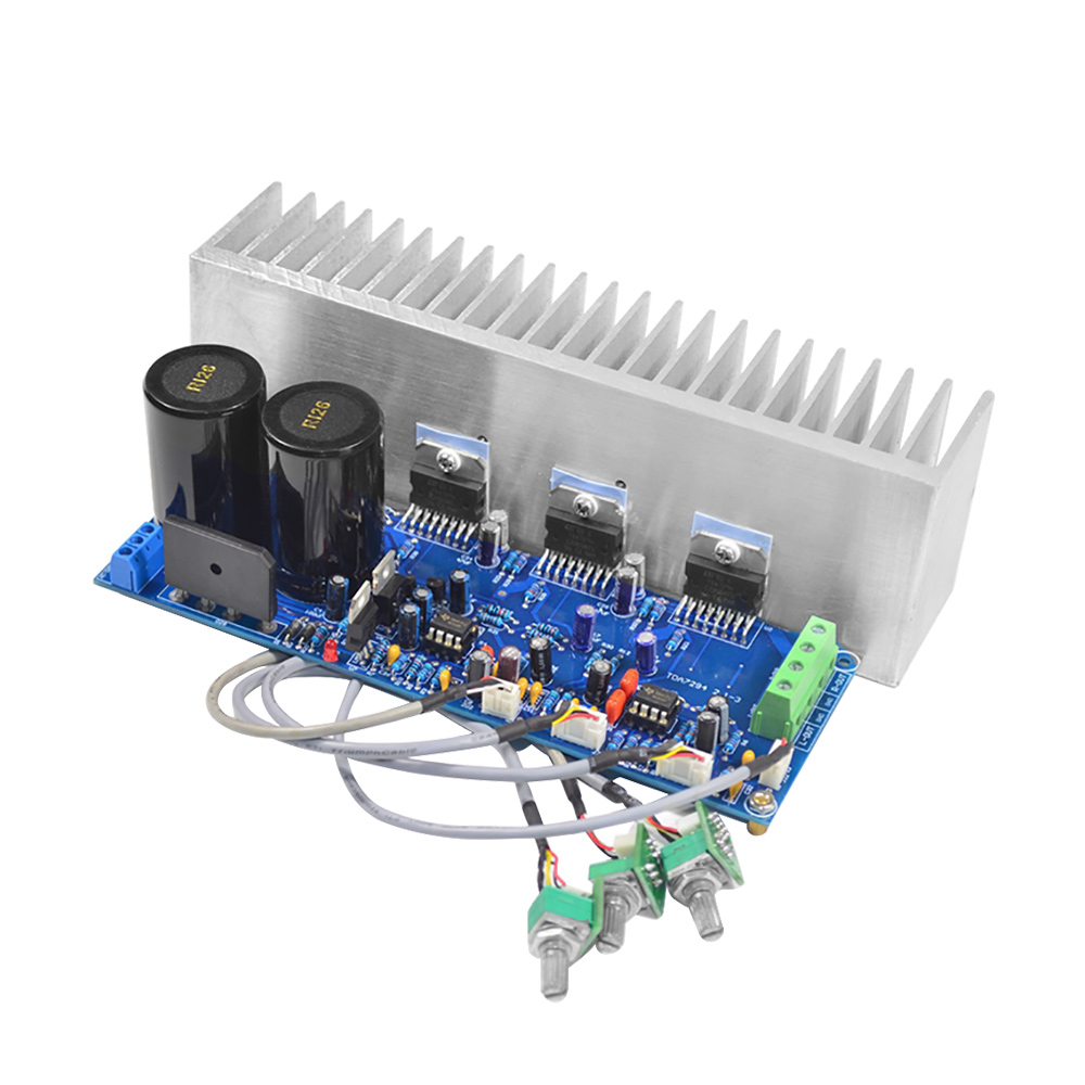 AIYIMA TDA7294 80W * 2 + 100W HIFI fièvre 2.1 canaux Subwoofer puissance amplificateur Audio carte avec radiateur bricolage pour Home sound cinéma
