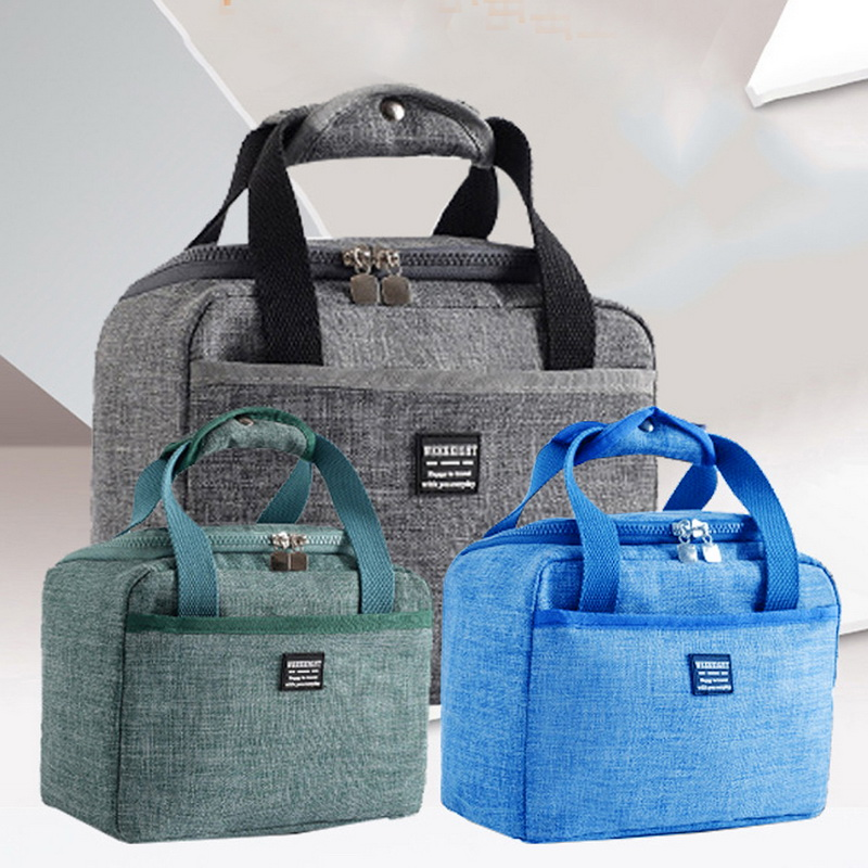 CYSINCOS Portable Lunch Bag New Thermal Insulated Box Tote Cooler Handbag Bento Pouch Dinner Container School Food Storage
